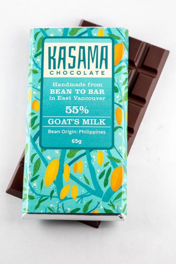 55% Goat's Milk bean-to-bar chocolate