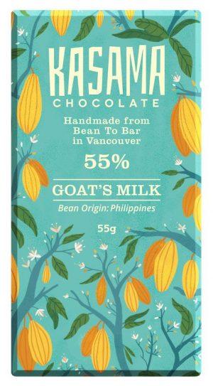 55% Goat's Milk bean-to-bar chocolate bar