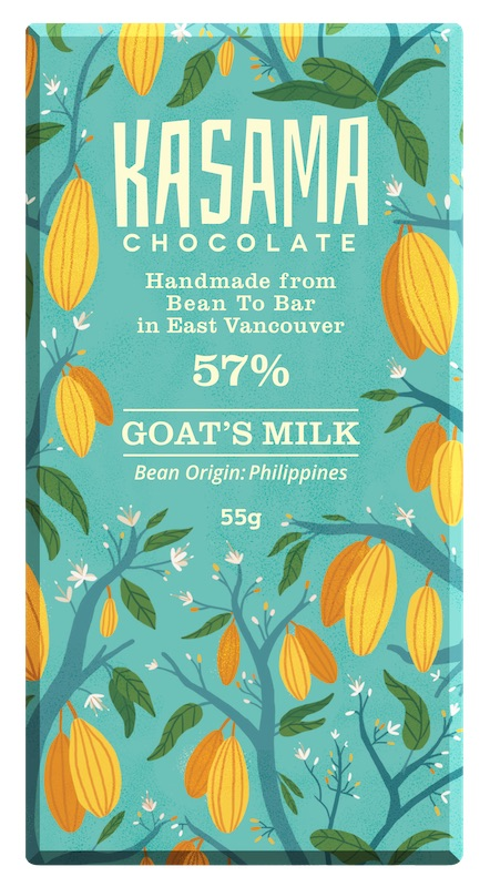 55% Goat's Milk bean-to-bar chocolate bar