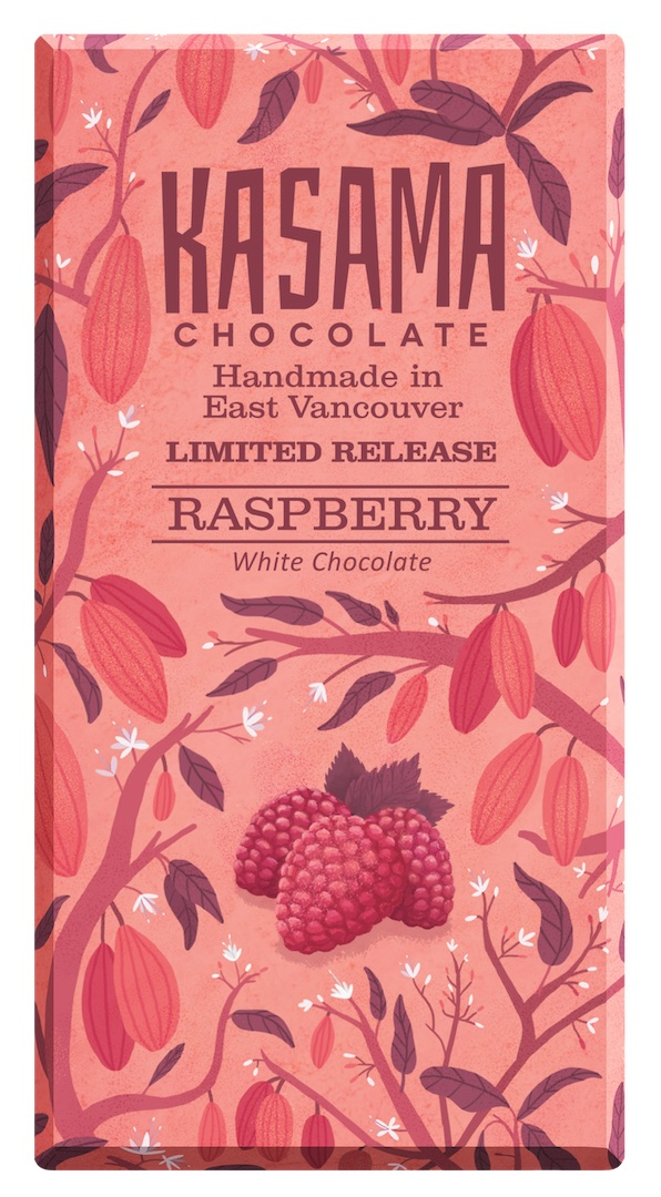 bean-to-bar Raspberry white chocolate