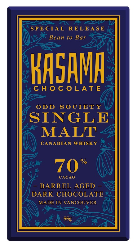 70% whisky cask aged bean-to-bar chocolate.