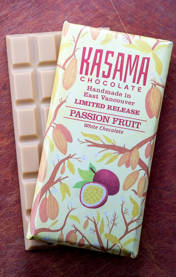 Passion Fruit bean-to-bar white chocolate