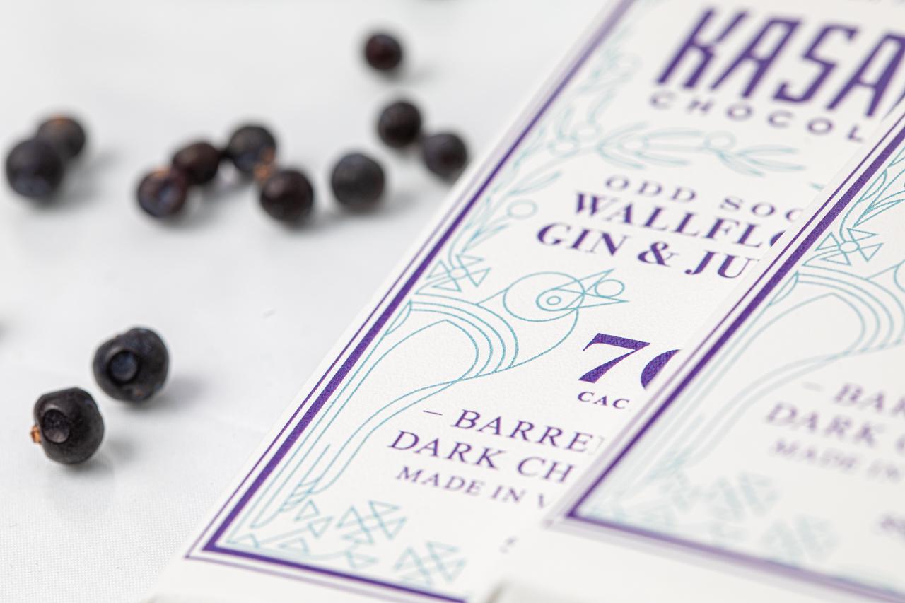 Wallflower Gin barrel aged bean-to-bar chocolate
