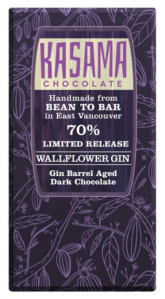 Barrel Aged Gin bean-to-bar chocolate bar