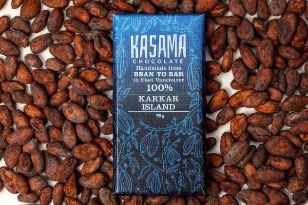 100% Papua New Guinea Karkar Island bean-to-bar chocolate bar