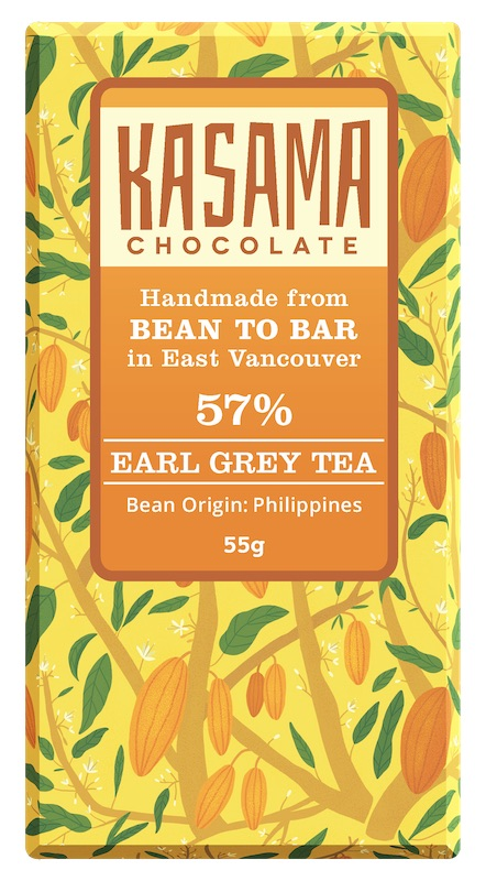 bean-to-bar Earl Grey Tea Chocolate Bar