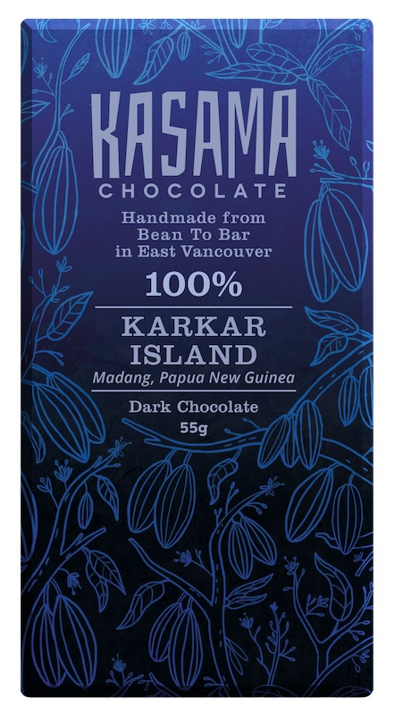 100% Papua New Guinea Karkar Island bean-to-bar chocolate bar