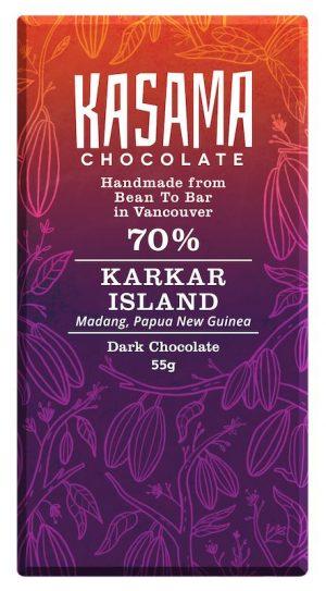 70% Papua New Guinea Karkar Island bean-to-bar chocolate bar