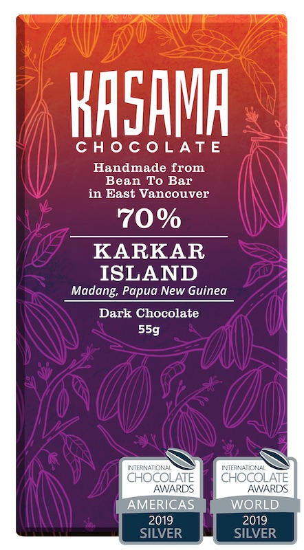 70% Papua New Guinea Karkar Island bean-to-bar chocolate bar