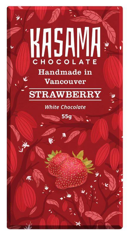 Vegan Strawberry White Chocolate bean-to-bar