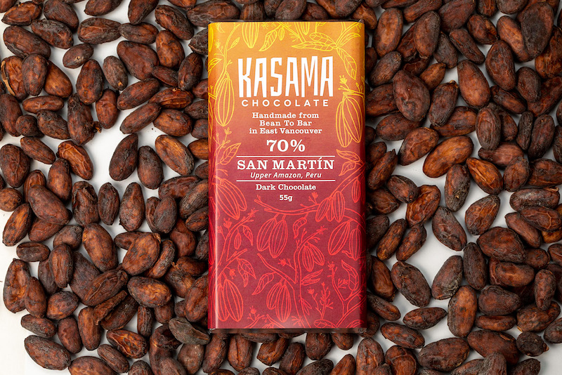 San Martin bean-to-bar 70% chocolate bar