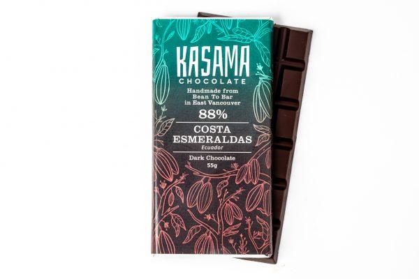 88% Costa Esmeraldas Ecuador bean-to-bar chocolate