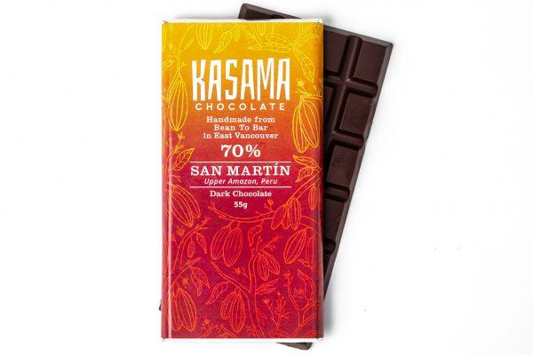 70% San Martin Peru bean-to-bar chocolate