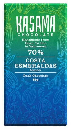 70% Costa Esmeraldas Ecuador bean-to-bar chocolate