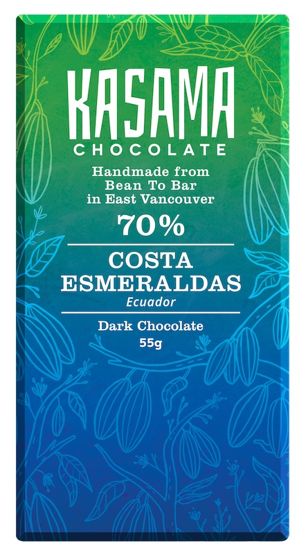 70% Costa Esmeraldas Ecuador bean-to-bar chocolate