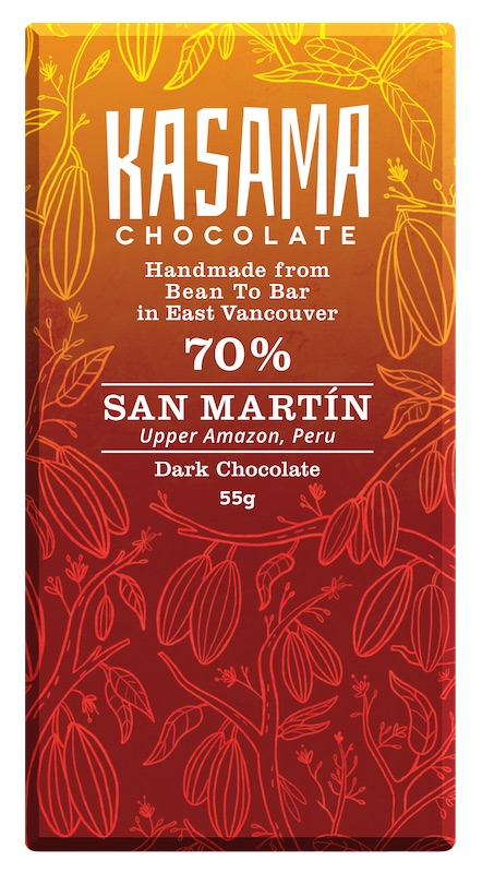 70% San Martin Peru bean-to-bar chocolate