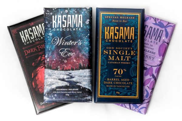 Winter bean-to-bar chocolate collection