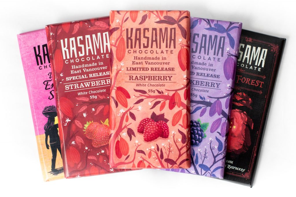 Adventure collection of bean-to-bar chocolate